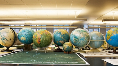 line of globes