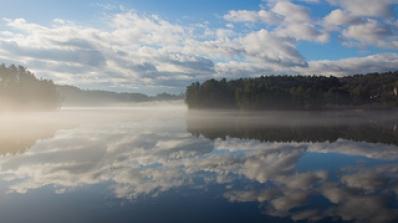 misty morning on CT