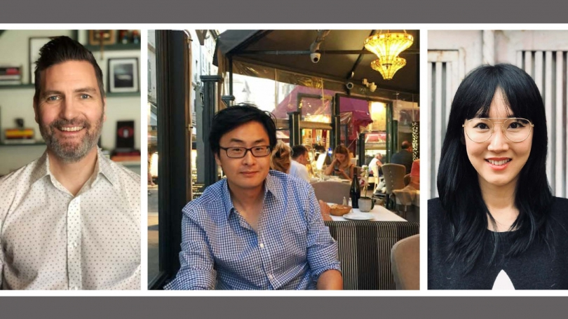 Sunmin Kim, Greg Sharp and Carolyn Choi
